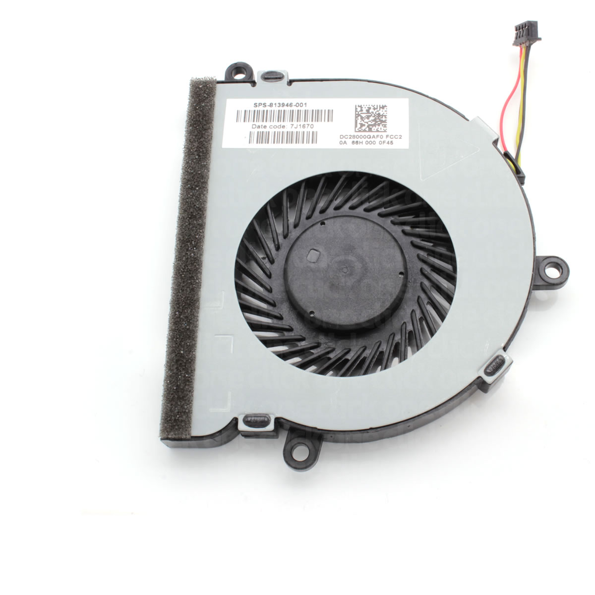 Details about Replacement CPU Cooling Fan DC28000GAF0 for HP Notebook  15-BA042NA Z5A55EA#ABU